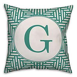 Designs Direct Aztec Square Indoor/Outdoor Throw Pillow in Teal