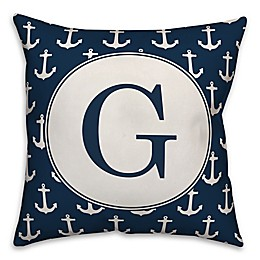 Designs Direct Anchor Square Indoor/Outdoor Throw Pillow in Blue