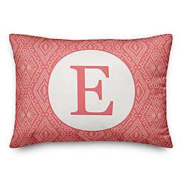 Designs Direct Tribal Monogram Oblong Indoor/Outdoor Throw Pillow in Orange