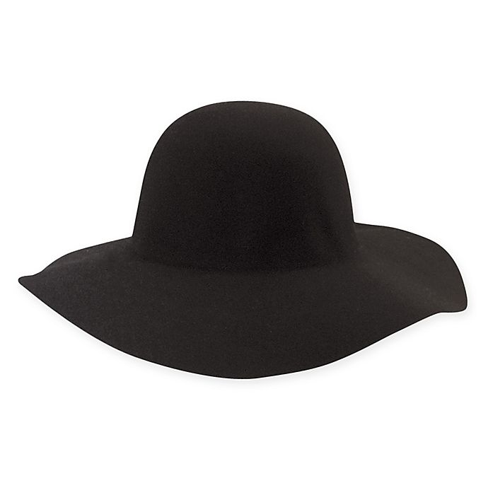 Alternate image 1 for Scala™ Felt Floppy Hat in Black