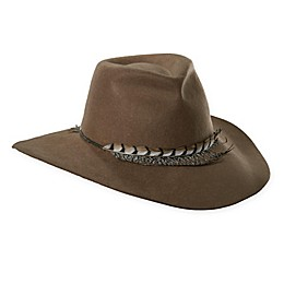 Scala™ Women's Wool Felt Feather Trimmed Safari Hat