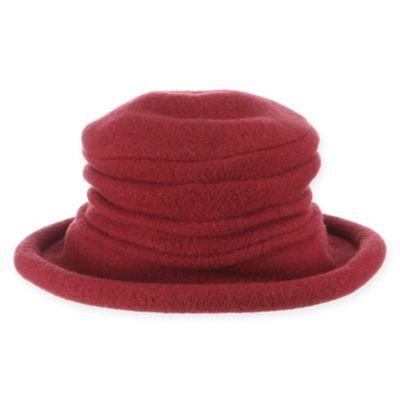 Scala Wool Cloche with Button One Size