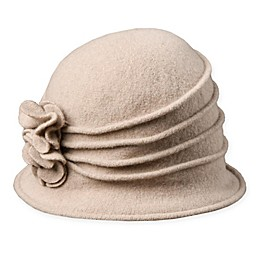 Scala™ Women's Wool Cloche Hat with Rosettes