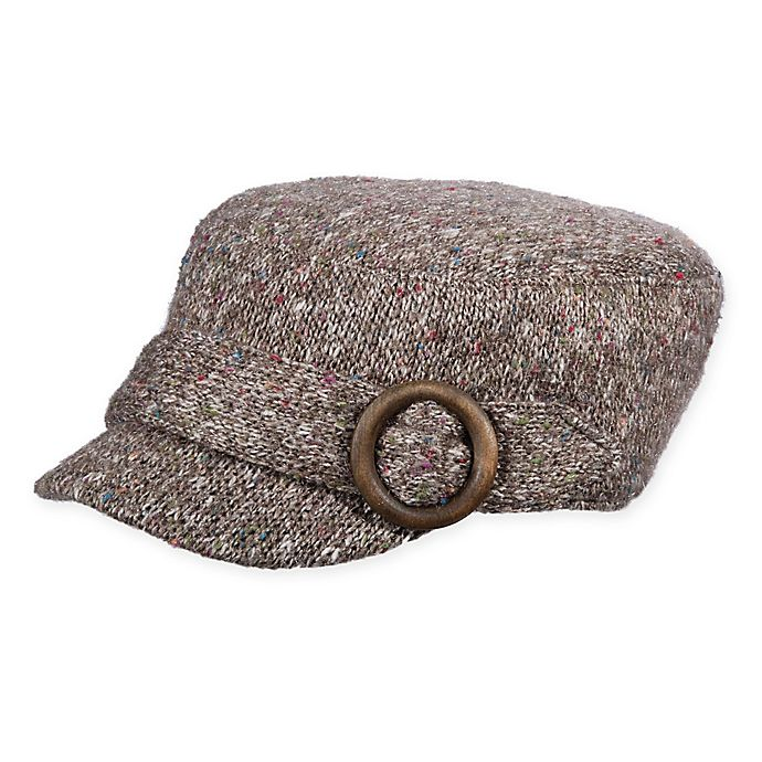 Alternate image 1 for Scala™  Women's Knit Cadet Hat in Grey