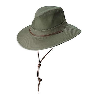 DPC Outdoor Design Weathered Mesh Safari Hat in Olive