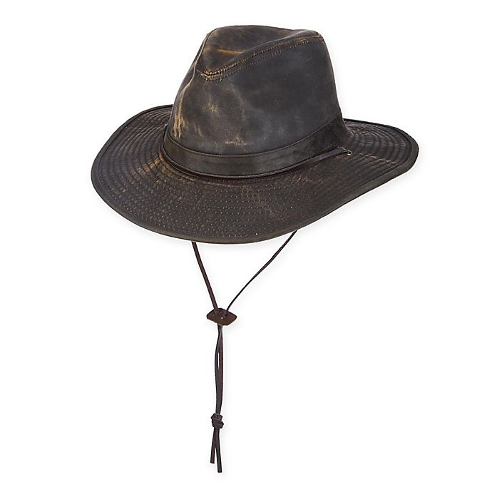 DPC™ Rugged Cotton Safari Hat with Chin Cord in Weathered Brown ... 44706bbe2c3