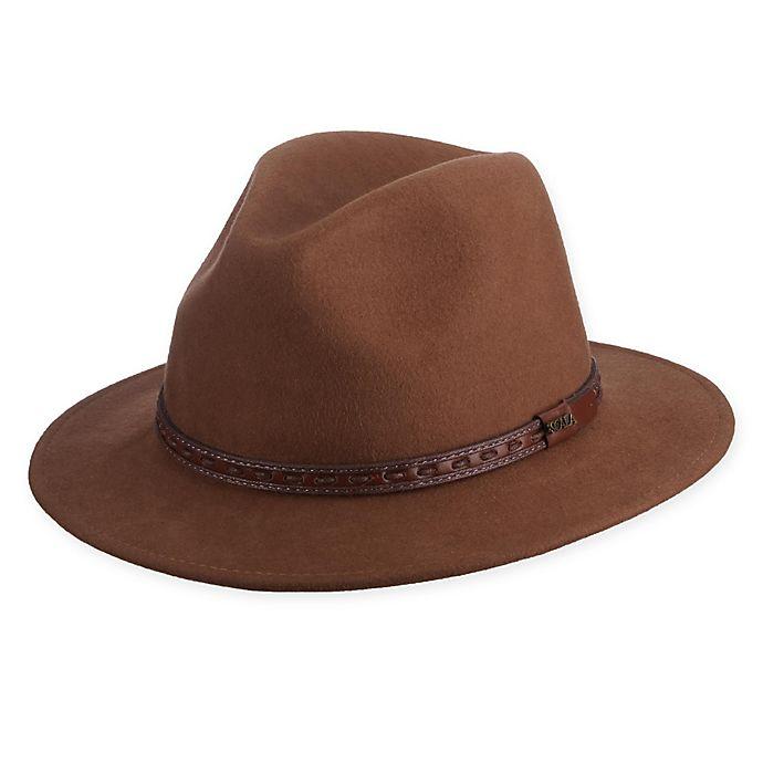 Alternate image 1 for Scala™  Medium Crush Felt Safari Hat in Pecan