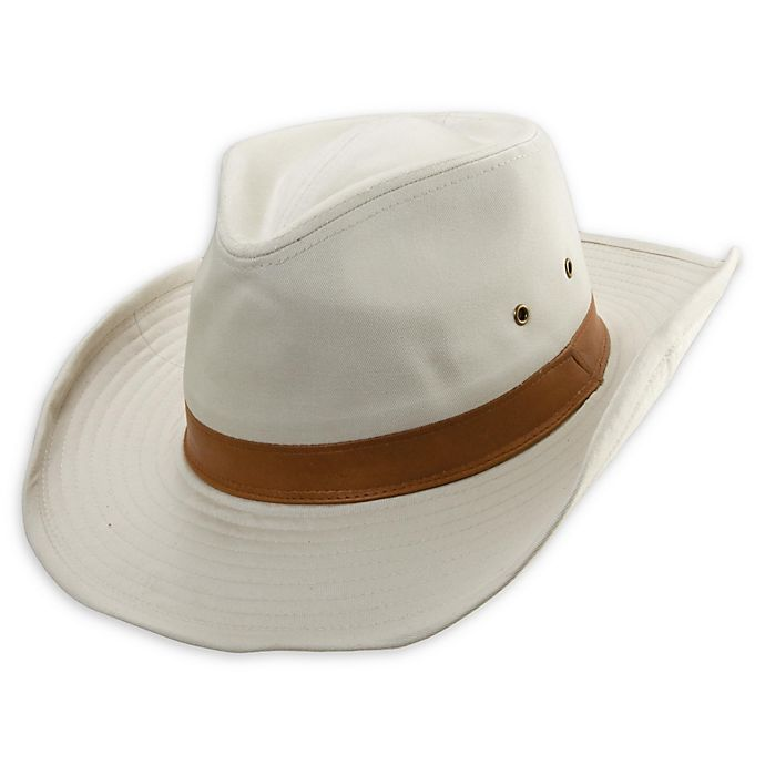 Alternate image 1 for DPC™ Large Outdoor Washed Twill Western Outback Hat in Putty