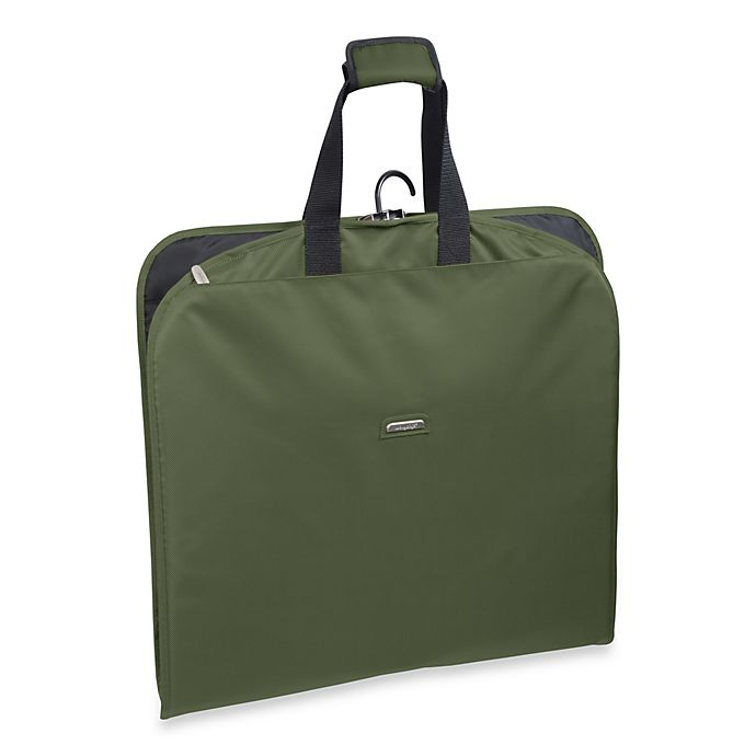 Alternate image 1 for WallyBags® 45-Inch Slim Garment Bag in Olive