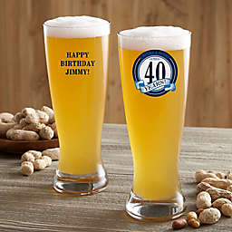 Cheers & Beers Personalized Beer Pilsner Glass