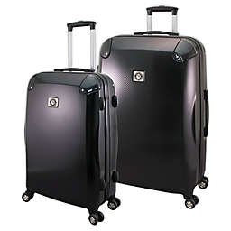 Mercury Luggage Hardside Spinner Checked Luggage in Black