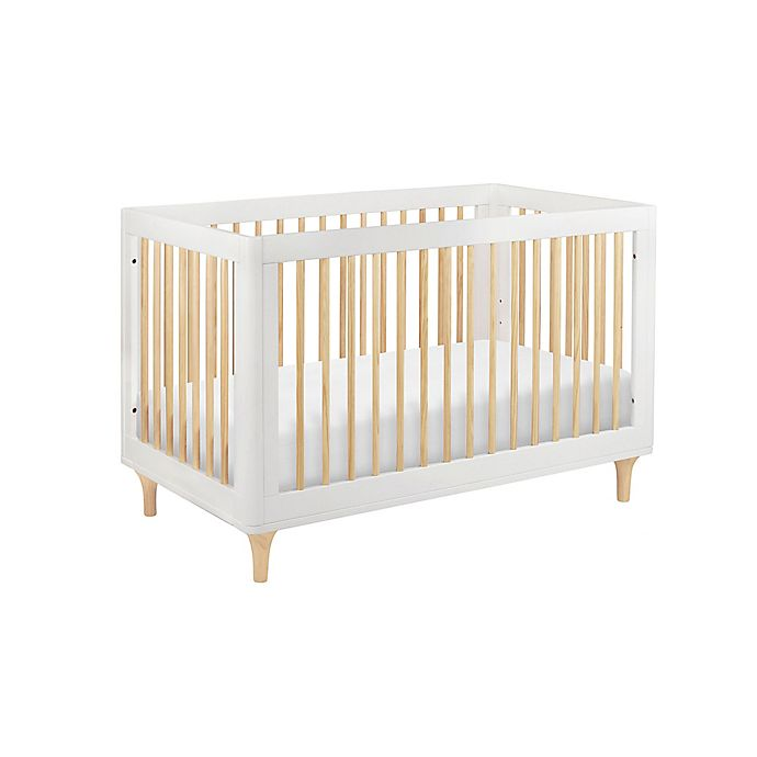 Alternate image 1 for Babyletto Lolly 3-in-1 Convertible Crib in White/Natural
