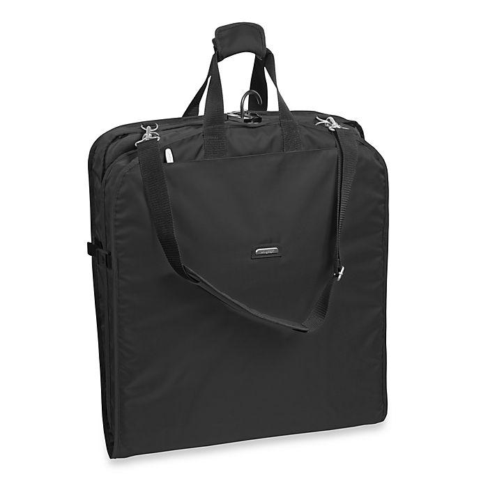 Alternate image 1 for WallyBags® 42-Inch Shoulder Strap Garment Bag in Black