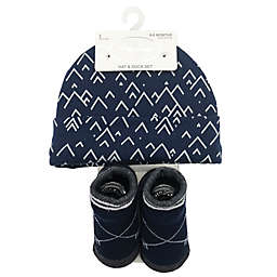 dbe82efc594 Baby Lounge 2-Piece Beanie and Socks Set in Navy