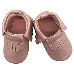 Baby Lounge Moccasin Crib Shoe in Rose Gold