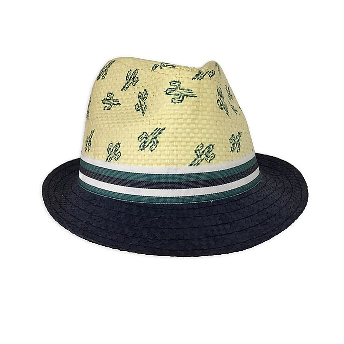 Alternate image 1 for Toby Fairy™ Cactus Woven Fedora Hat in Navy