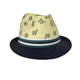 Toby Fairy™ Cactus Woven Fedora Hat in Navy