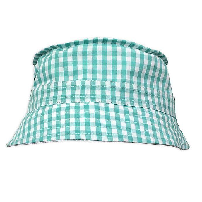 Alternate image 1 for Toby Fairy™ Gingham/Solid Reversible Porkpie Hat