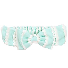Tiny Treasures Large Knit Bow Headband in Mint