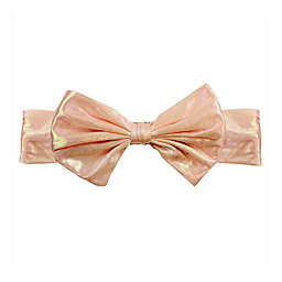 Tiny Treasures Large Shimmer Bow Headband in Coral