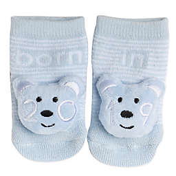 Planet Kids Size 0-6M Teddy Bear 2019 Infant Rattle Socks in Light Blue