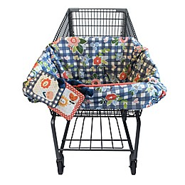 Boppy® Shopping Cart and High Chair Cover in Navy Blooms