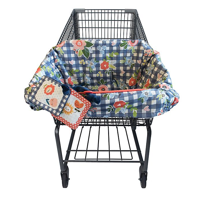 Surprising Boppy Shopping Cart And High Chair Cover In Navy Blooms Pdpeps Interior Chair Design Pdpepsorg
