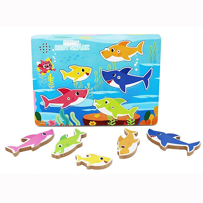Alternate image 1 for Baby Shark Wooden Sound Puzzle