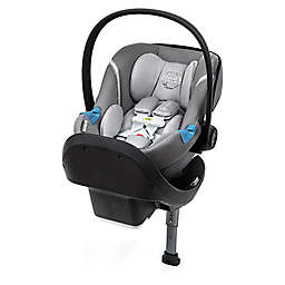 Cybex Aton M Infant Car Seat with SensorSafe and SafeLock Base in Manhattan Grey