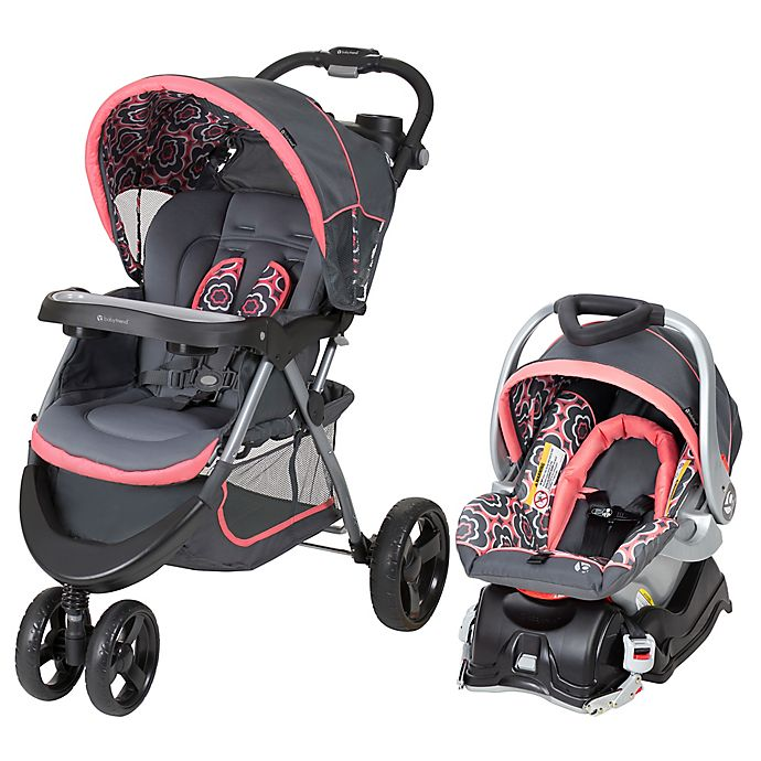 Alternate image 1 for Baby Trend® Nexton Travel System in Coral Floral