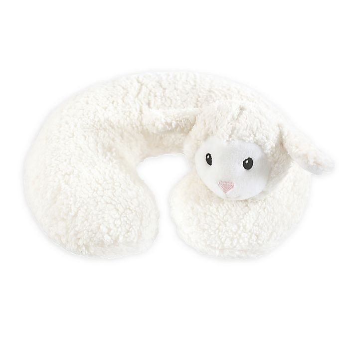 Alternate image 1 for Hudson Baby® Lamb Baby Head/Neck Support Pillow in White