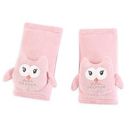 Hudson Baby® Cushioned Owl Strap Covers in Pink