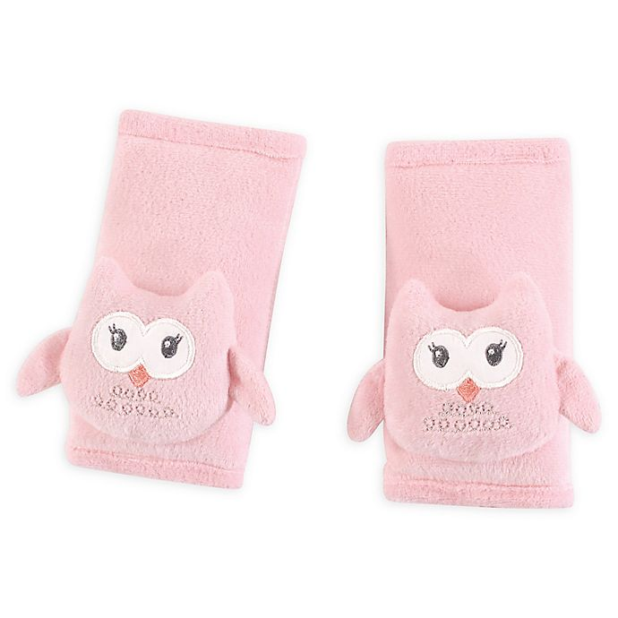 Alternate image 1 for Hudson Baby® Cushioned Owl Strap Covers in Pink