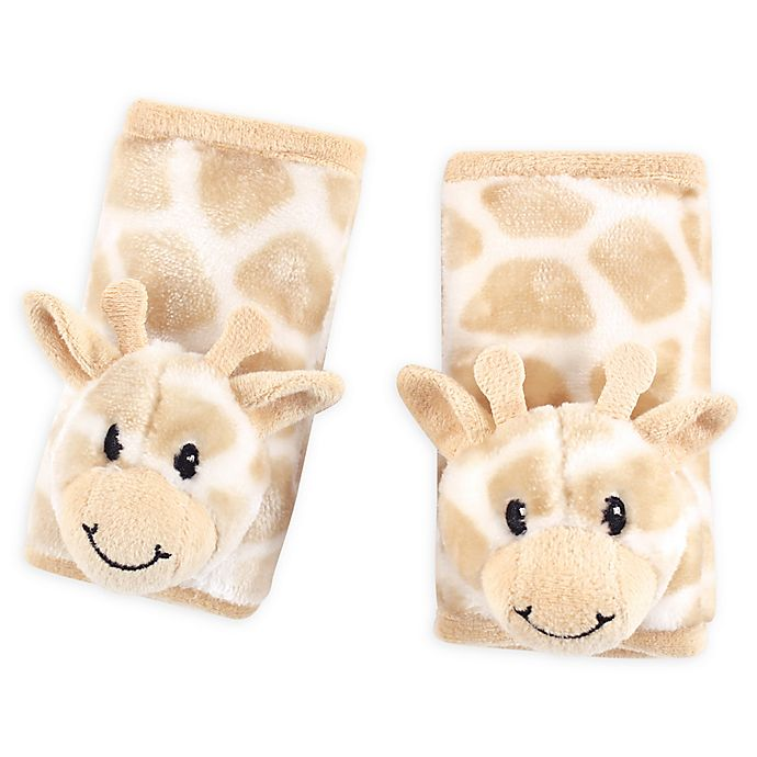 Alternate image 1 for Hudson Baby® Cushioned Giraffe Strap Covers in Beige
