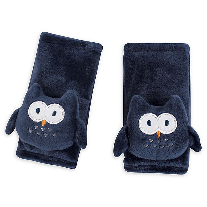 Alternate image 1 for Hudson Baby® Cushioned Owl Strap Covers in Navy