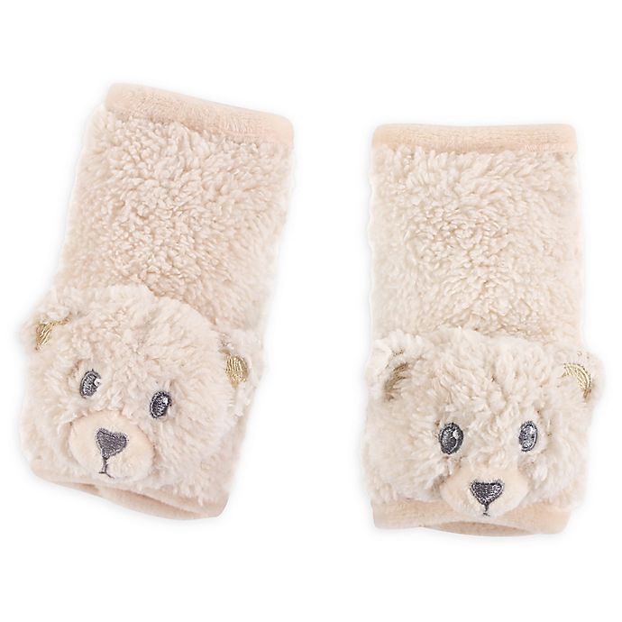 Alternate image 1 for Hudson Baby® Cushioned Bear Strap Covers in Tan