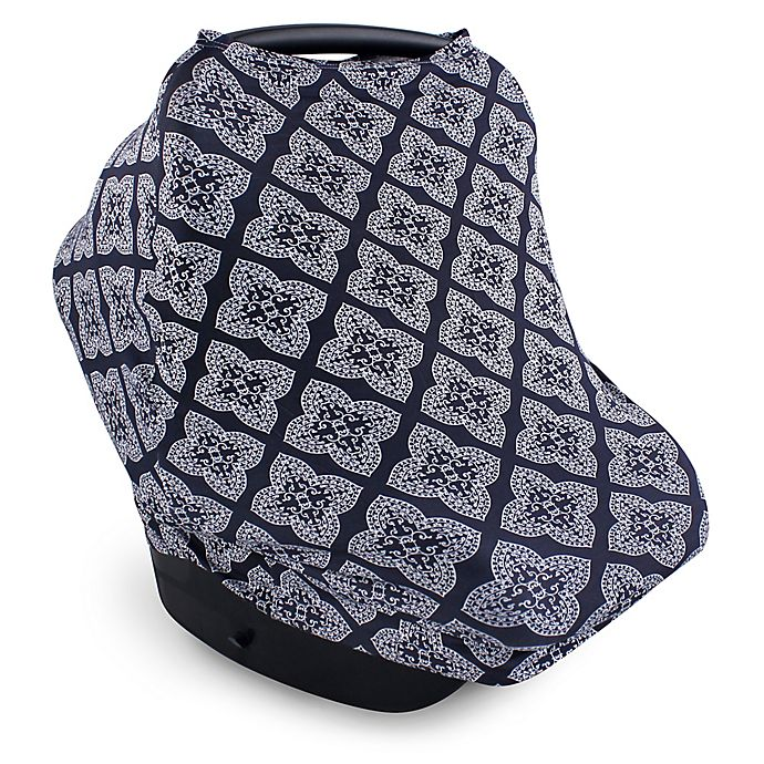 Alternate image 1 for Yoga Sprout Multi-Use Car Seat Canopy in Ornate Clover Blue
