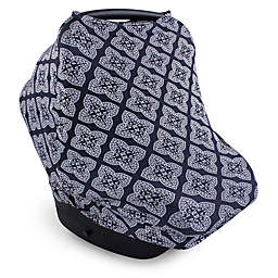 Yoga Sprout Multi-Use Car Seat Canopy in Ornate Clover Blue