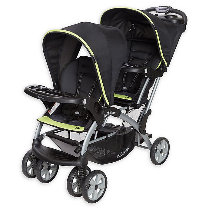 Alternate image 1 for Baby Trend® Sit N' Stand® Elite Double Stroller in Optic Green