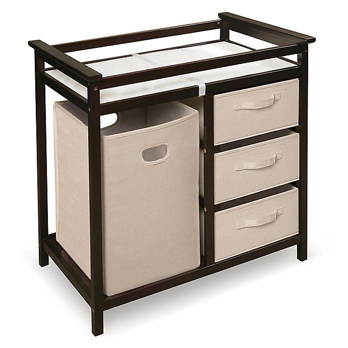 Alternate image 1 for Badger Basket Modern Baby Changing Table with Hamper and 3 Baskets