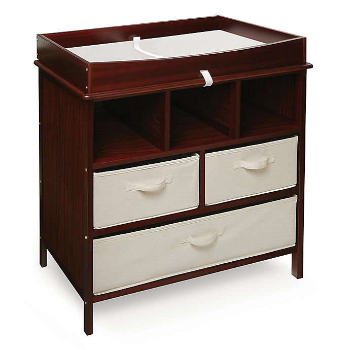 Alternate image 1 for Badger Basket Estate Baby Changing Table with Cubbies and 3 Baskets