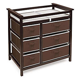 Badger Basket Modern Baby Changing Table with 6 Baskets