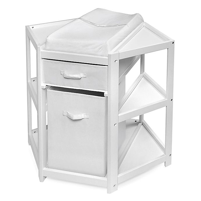 Alternate image 1 for Badger Basket Corner Changing Table with Hamper in Espresso