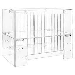 Nursery Works Vetro Mini Acrylic Crib with Mattress