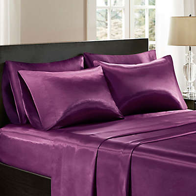 Madison Park Essentials Satin Solid Sheet Set