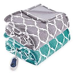Beautyrest® Ogee Oversized Heated Throw Blanket