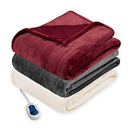 Beautyrest® Berber Solid Microlight Heated Throw Blanket