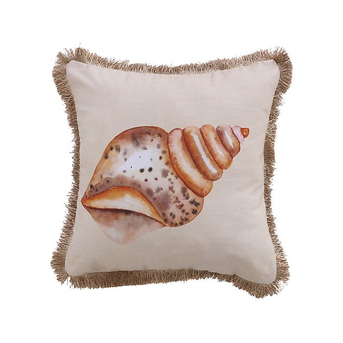 Alternate image 1 for Levtex Home Beacon Conch Fringe Square Throw Pillow