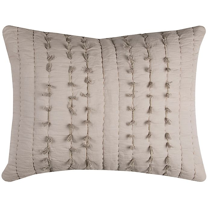 Alternate image 1 for Rizzy Home Piper King Pillow Sham in Light Brown