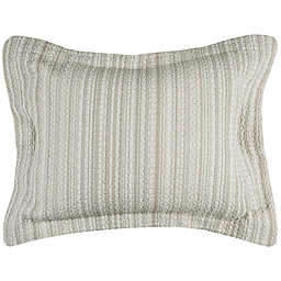 Rizzy Home Patrick Standard Pillow Sham in Ivory